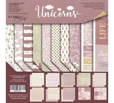 Набор двусторонней бумаги Unicorns, 30х30 см, 190 гр/м, 10 листов (ENG), SM4100011