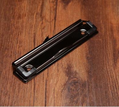 Зажим для планшета (бумаг), цвет черный, 12х3 см, арт. 133724