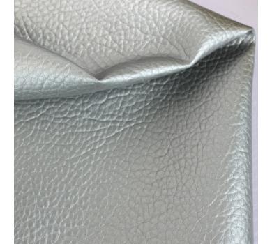 Кожзам на тканной основе с крупным тиснением под кожу, цвет под серебро, 1314031