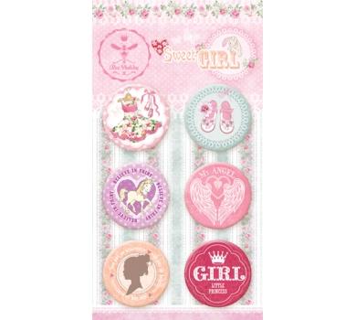 Набор фишек Sweet girl, в наборе 6 фишек, размер 2.5см, 630250