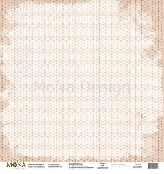 Односторонний лист Вязаный плед, коллекция Новый год, MD39891