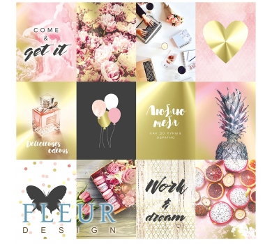 Набор карточек Pretty pink, FD1116802