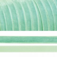 Лента бархатная, цвет мятный, lb1016