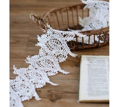 Кружево веточки, цвет белый, 135501