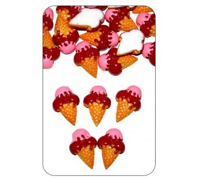 Декоративный элемент рожок вишневый, CAKE11-02-25