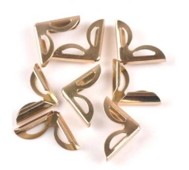 Металлический уголок, цвет розовое золото, 1 шт., 180834