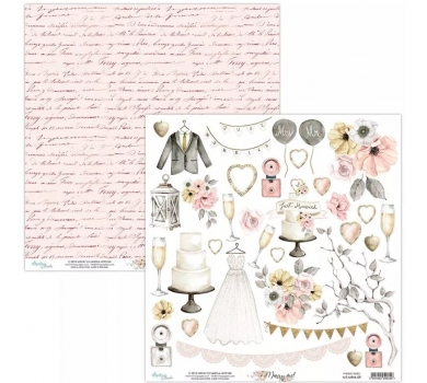 Бумага двусторонняя для скрапбукинга Marry me by Mintaypapers, арт. MT-MRM-09