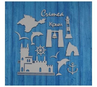 Чипборд Путешествия Крым, 110х160 мм, 0371