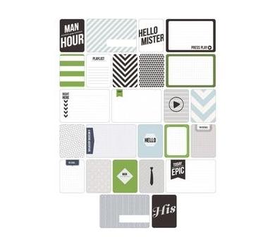 Набор карточек Man's World для Project life 60 шт, American Crafts, арт. 380236