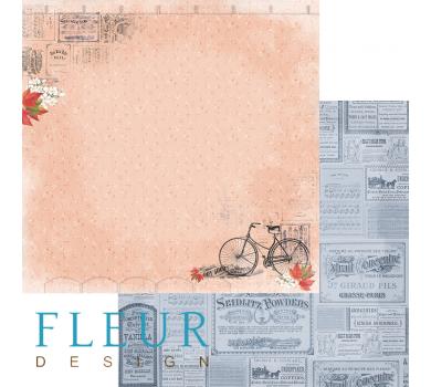 Лист бумаги для скрапбукинга Обрывки памяти, коллекция Краски осени, арт. FD1004709