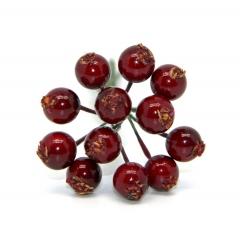 Декоративный букетик ягоды, цвет бордовый, DKB193F