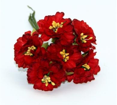 Декоративный букетик, цвет красный, DKB151H