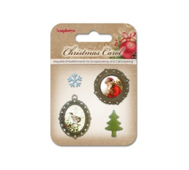 Набор металлических украшений с эпоксидками Ночь перед Рождеством 2, SCB3409116