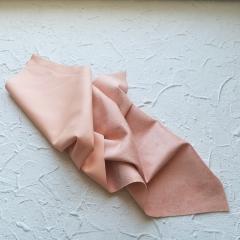 Искусственная замша на коже (кожзам), цвет персиковый, арт. 411633