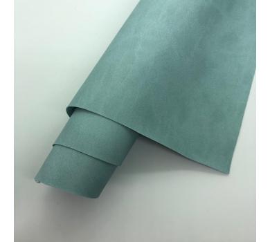 Кожзам (экокожа) на полиуретановой основе, цвет серо-голубой, арт. SC410074