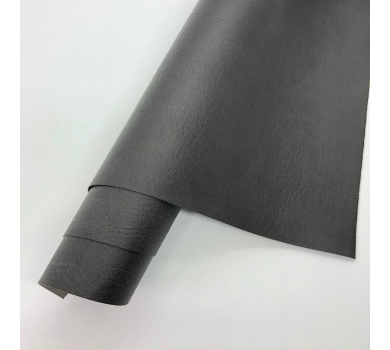 Кожзам (экокожа) на полиуретановой основе с тиснением мантуя (мятая кожа), цвет антрацит, арт. SC400070