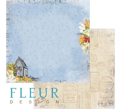 Лист бумаги для скрапбукинга Пение птиц, коллекция Краски осени арт. FD1004702