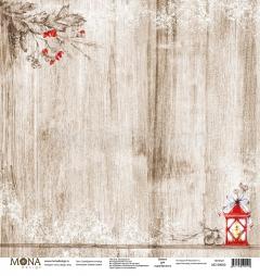 Односторонний лист Серебряное копытце, коллекция Зимняя сказка, MD99090