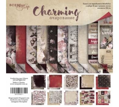 Набор двусторонней бумаги Charming (Очарование), 30х30 см, 190 гр/м, 10 листов (ENG), SM3300011