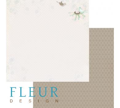 Лист бумаги для скрапбукинга Гнездо, коллекция Зарисовки весны, арт. FD1003604