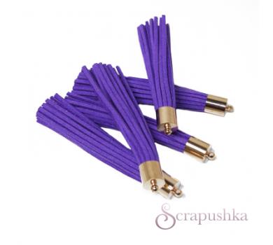 Декоративная кисточка из искусственной замши, фиолетовый с золотом, арт. KA106015