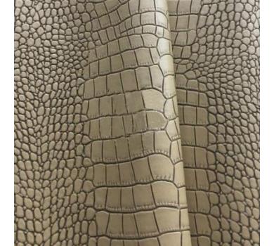 Кожзам с тиснением под рептилию, серо-бежевый, арт. KA420811