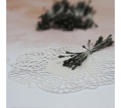 Тычинки матовые двусторонние, цвет Темно-серый, 60х1,5 мм, 20 шт, AL3004177