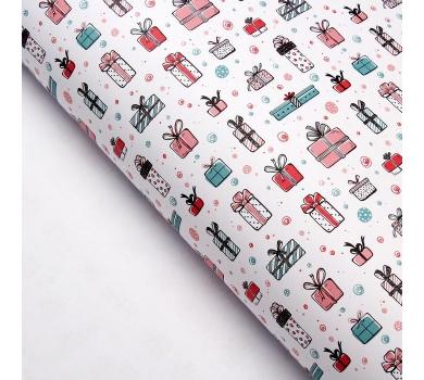 Бумага упаковочная Подарки от Деда Мороза, арт. 3862934