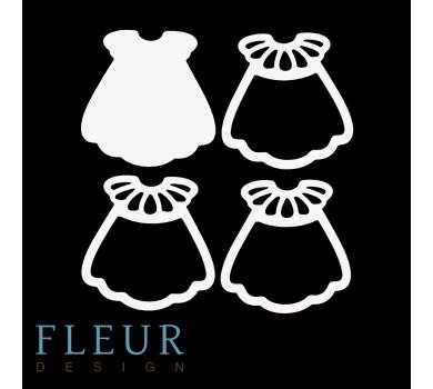 Заготовка для шейкера Платьице с рюшами маленькая, от FLEUR design, FD1531045