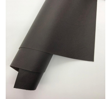 Кожзам (экокожа) на полиуретановой основе с тиснением мантуя (мятая кожа), цвет брауни, арт. SC410069