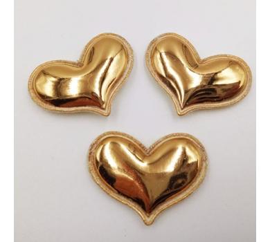 Патч (нашивка) Золотое сердце, 1 шт., арт. 194804