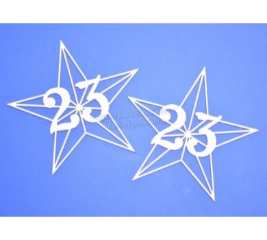 Чипборд надпись 23, размер 65х67 мм, ARTCHB002320