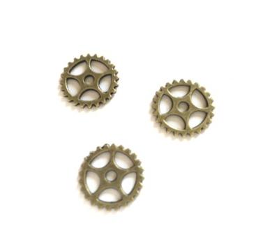 Металлическое украшение Шестеренка, цвет бронза, KA100102