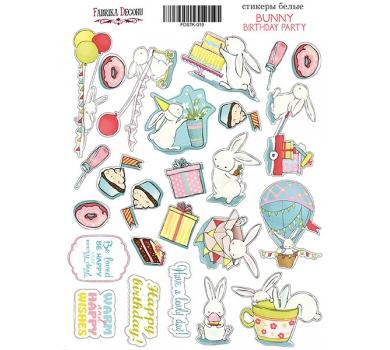 Набор наклеек (стикеров) Bunny birhtday party, 21x16 см, FDSTK-019