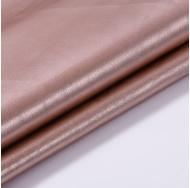 Кожзам с эффектом металлик, цвет розовое золото, KA410404