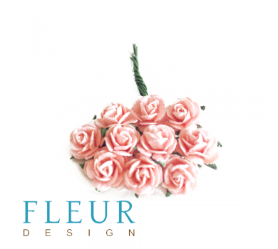 Мини-розочки Шебби-Розовые, размер цветка 1 см, 10 шт/упаковка FD3072123