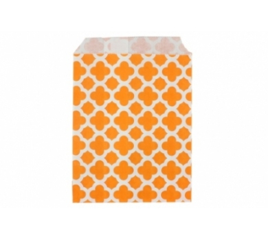 Бумажный пакет Арабески оранжевые, DA040208