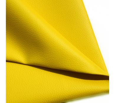 Кожзам на тканевой основе, желтый, арт. KA420310
