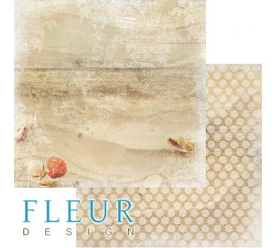 Лист бумаги для скрапбукинга Песочный берег, коллекция Лагуна, арт. FD1005403