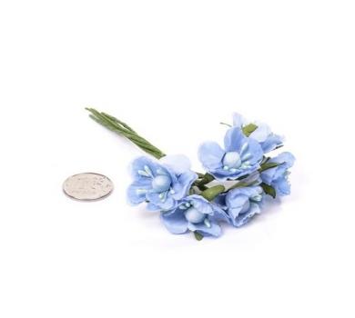 Декоративный букетик голубой, арт. MG-FA72-2