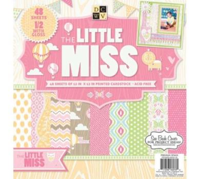Набор бумаги Little Miss от DCWV, арт. PS-005-00310
