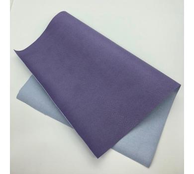 Кожзам (экокожа) на полиуретановой основе с тиснением под питона, цвет лаванда, арт. SC400053
