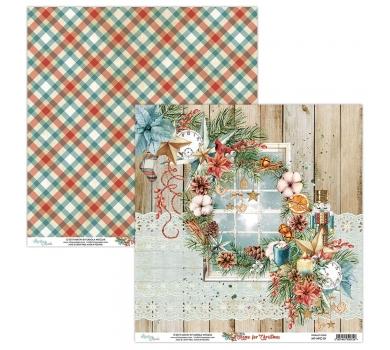 Бумага двусторонняя для скрапбукинга Home for Christmas by Mintaypapers, арт. MT-HFC-01
