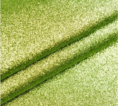 Ткань с глиттером, цвет салатовый, SC400510