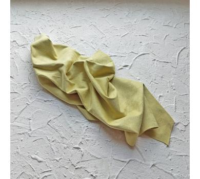 Искусственная замша двусторонняя, цвет лайм, арт. 401613