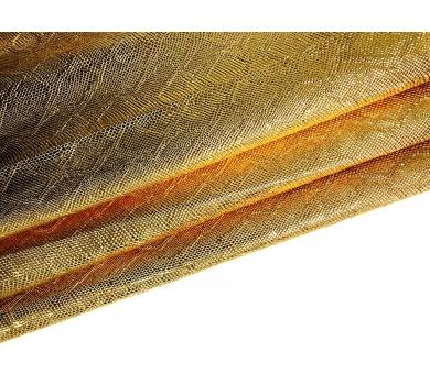 Кожзам с тиснением под рептилию, золото, арт. KA400806