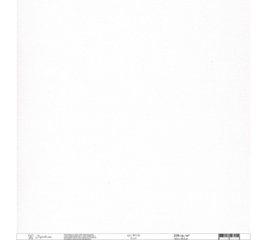 Кардсток текстурированный цвет Белый , BO-26