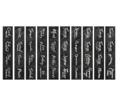 Набор полос с картинками для декорирования Soul Kitchen, 5х30.5 см, 200 гр/м2, 01056