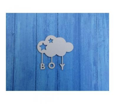 Чипборд Облако Boy, 63х60 мм, 0260