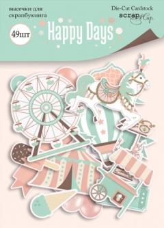 Набор высечек (вырубок) Happy Days, 49 шт, 250 гр/м2, SM4200014
